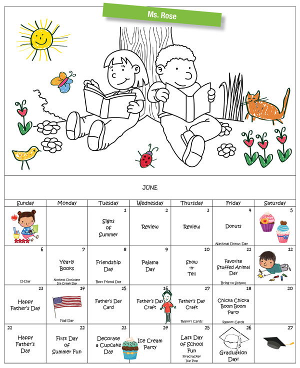 Discovering Me Nursery School June 2021 Calendar Ms. Roxe